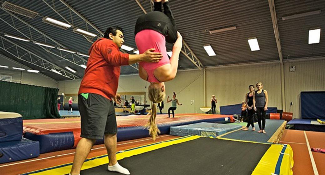 Tjej gymnast